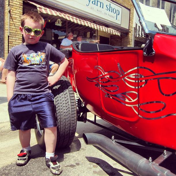 kayster at the car show